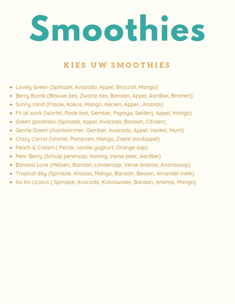 smoothies menu ikwilcocktails