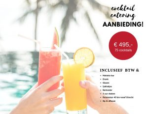 Aanbieding cocktail catering