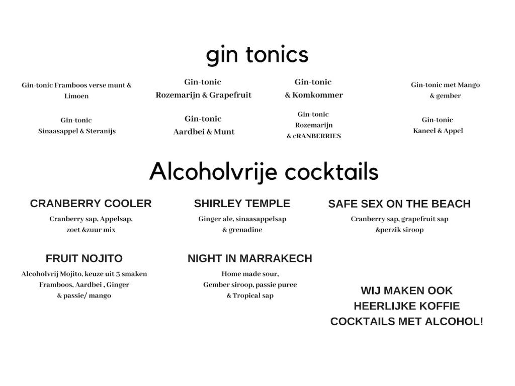 Alcoholvrije cocktailbar van ikwilcocktails